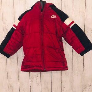 Kid's NIKE Red Fleece Lined winter jacket 4